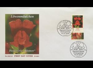 Bund BRD Ersttagsbrief FDC 1. Juli 2019 Nr. 3474 Löwenmäulchen Dauerserie Flora