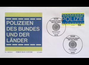 Bund BRD Ersttagsbrief FDC 1. Juli 2019 Neuheit Polizeien des Bundes und Länder