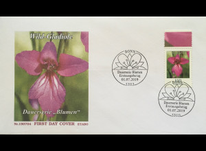 Bund BRD Ersttagsbrief FDC 1. Juli 2019 Nr. 3471 Wilgladiole Dauerserie Flora