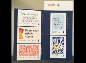 Finnland Finland 2019 Neuheit Kalligrafie aus MH Ein Brief berührt