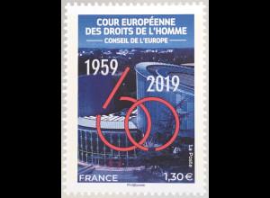 Frankreich France 2019 Neuheit Europarat 60 Jahre für Eintreten Menschenrechte