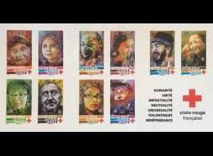 Frankreich France 2019 NR. 7321-30 Markenheft Rotes Kreuz Gesichter aller Welt