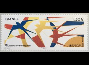 Frankreich France 2019 Nr. 7320 Europaausgabe Einheimische Vogelarten