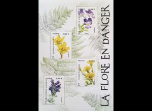 Frankreich France 2019 Nr. 7332-34 Gefährdete Pflanzenarten Blumen Flora Botanik
