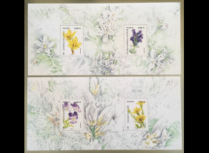 Frankreich France 2019 Block 435 Gefährdete Pflanzenarten Blumen Flora Botanik