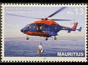 Mauritius 2019 Neuheit Rettungshubschrauber Menschenrettung Seerettung
