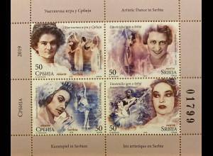 Serbien Serbia 2019 Nr. 873-76 Serbische Tänzer Ballet Ausdruckstanz