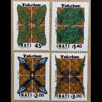 Tokelau Inseln 2019 Nr. 535-38 INATI Gleicher Anteil für alle Haushalte
