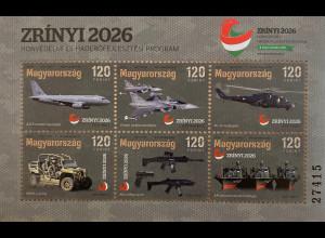 Ungarn Hungary 2019 Block 426 Zrinyi 2026 Verdeidigungsprogramm Ungarns Militär