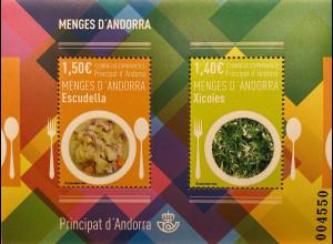 Andorra spanisch 2019 Block 17 Typische spanische Gerichte Escudella Xicois
