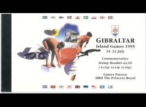 Gibraltar Prestige Markenheft MH 7 Internationale Sportspiele Island Games 1995