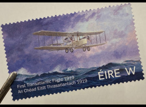 Irland 2019 Nr. 2320 Erster Atlantikflug John Alcock und Arthur Whitten Brown
