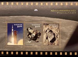 Schweden Sverige 2019 Neuheit 50 Jahre Mondlandung Armstrong Astronaut Gold