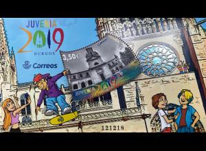 Spanien España 2019 Neuheit Juvenia in Burgos Philatelie Jugendausstellung