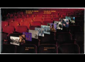 Kanada Block 18-19 100 Jahre Kino in Kanada gestempelt