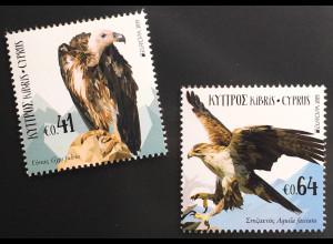 Zypern griechisch Cyprus 2019 Nr. 1408-09 Europa Einheimische Vogelarten Adler