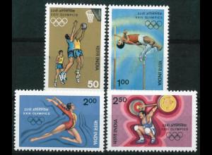 Indien Michel Nr. 994-97 ** vom Juli 1984 Olympische Sommerspiele Los Angeles