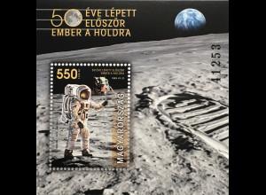 Ungarn Hungary 2019 Block 428 50 Jahre erste Mondlandung Neill Armstrong