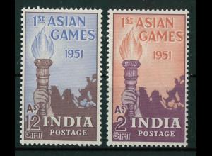 Indien Michel Nr. 219-20 ** vom März 1951 Asiatische Sportspiele