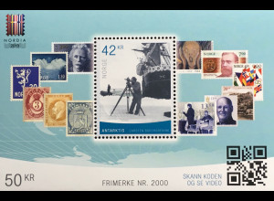 Norwegen 2019 Block 52 Internationale Briefmarkenausstellung NORDIA 2019