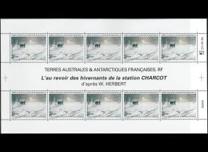 Französische Gebiete in der Antarktis TAAF Mi. Nr. 337 Kleinbogen Januar 1995