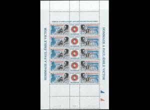 Französische Gebiete in der Antarktis TAAF Mi. Nr. 351-52 Kleinbogen ** Jan.1996