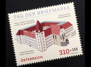 Österreich 2019 Neuheit Tag der Briefmarke Burg zu Wiener Neustadt Sankt Georg