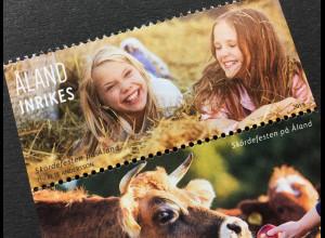 Aland 2019 Nr. 475-77 Erntedankfest Religiöses Fest im Herbst Familie Tiere