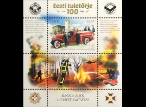 Estland EESTI 2019 Block 48 100 Jahre Feuerwehr Estlands Hilfsorganisation