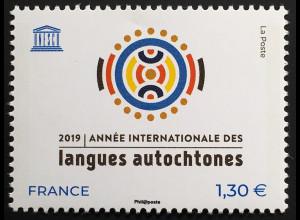 Frankreich France 2019 Neuheit UNESCO Jahr der indigenen Sprache