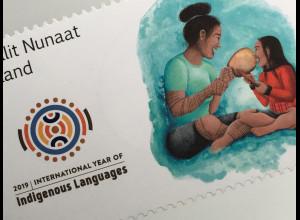 Grönland 2019 Neuheit Internationales Jahr der indigenen Sprache Vielfalt