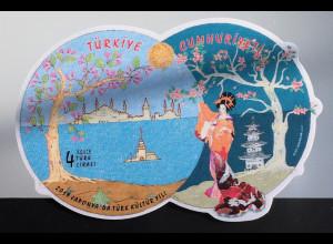 Türkei Turkey 2019 Neuheit Türkische Kultur in Japan Ausgefallene Blockform