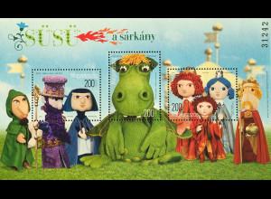 Ungarn Hungary 2019 Block 432 Sisu der Drache Ung. Volksmärchen Puppenspiel