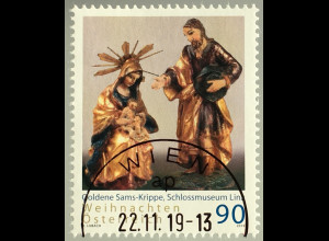 Österreich 2019 Neuheit Weihnachten Goldene Sams-Krippe Holzschnitzerei