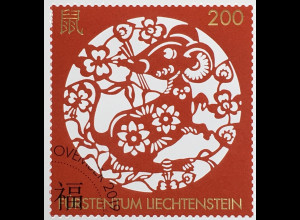 Liechtenstein 2019 Neuheit Chinesische Tierkreiszeichen Jahr der Ratte Goldfolie
