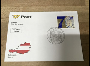 Österreich 2019 Nr. 3495 Weihnacht 70 Jahre Postamt Christkindl Rollenmarke FDC