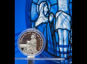 Erstkommunion Medaille in Silber zur 1. heiligen Kommunion geeignet als Geschenk