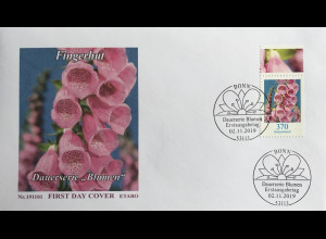 Bund BRD Ersttagsbrief FDC 2. November 2019 Nr. 3501 Roter Fingerhut Dauerserie