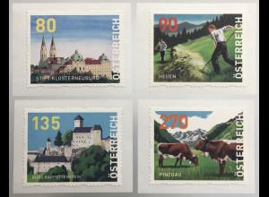Österreich 2019 Nr. 25-28 Dispensermarken Heimat Stift Klosterneuburg Pinzgau