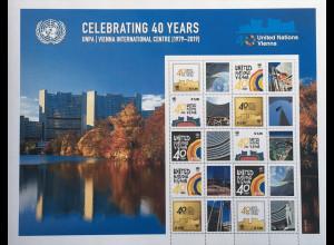 Vereinte Nationen UN UNO Wien 2019 Nr. 1062-66 Grußmarken 40 Jahre Int. Center