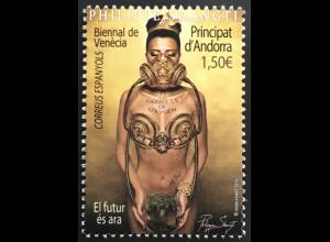 Andorra spanisch 2019 Nr. 485 Internationale Kunstbiennale von Venedig Art