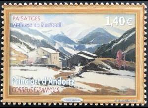 Andorra spanisch 2019 Nr. 486 Landschaften (III): Molleres de Meritxell Gemälde