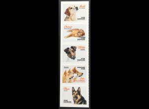 Dänemark 2019 Nr 1986-90 Mein Hund auf einer Marke Schäferhund Golden Red Riever