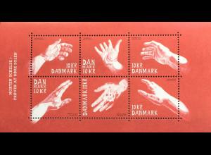 Dänemark 2019 Block 73 Briefmarkenkunst Zeichnungen von Morten Schelde Kunst