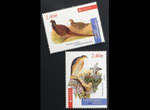 Georgien 2019 Nr. 731-32 Europaausgabe Einheimische Vogelarten Birds Uccello