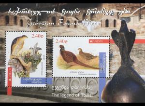 Georgien 2019 Block 87 Europaausgabe Einheimische Vogelarten Birds Uccello