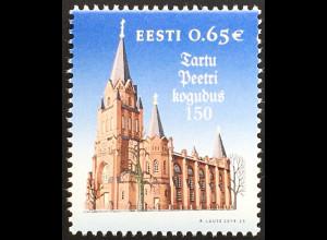 Estland EESTI 2019 Nr. 967 150 Jahre Tartuer Petri Gemeinde und Kirche