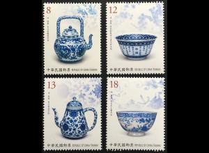 Taiwan Formosa 2019 Neuheit Blaues und weißes Porzellan Teekannen Schalen
