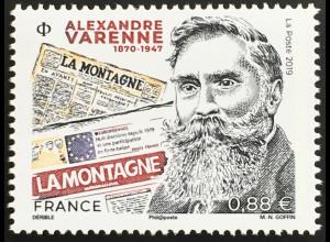 Frankreich France 2019 Nr. 7457 Alexandre Varenne Journalist und Politiker