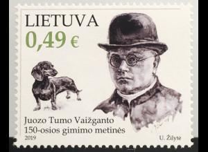 Litauen Lithuania 2019 Nr. 1316 100. Geburtstag von Juozas Tumas-Vaižganta